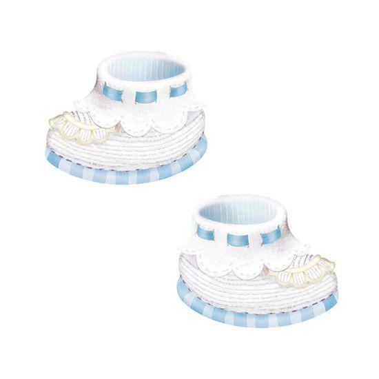 Aplique-Decoupage-Litoarte-APM4-322-em-Papel-e-MDF-4cm-Sapatinho-Bebe-Azul