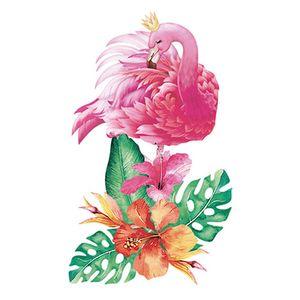 Aplique-Decoupage-Litoarte-APM8-870-em-Papel-e-MDF-8cm-Flamingo-Flores-Tropicais