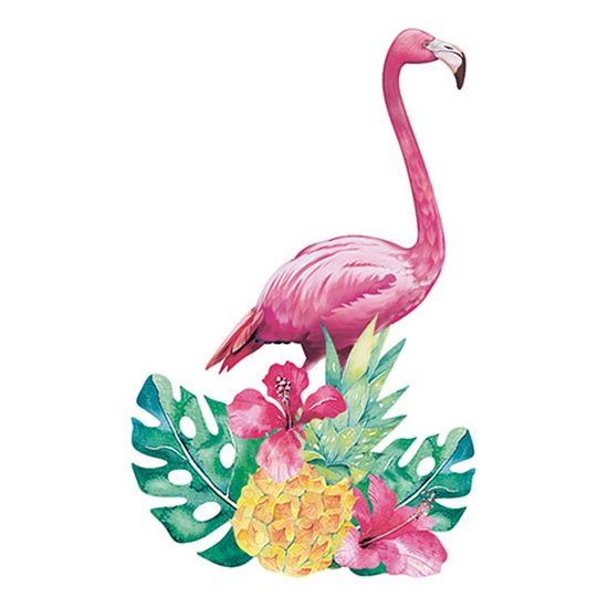 Aplique-Decoupage-Litoarte-APM8-871-em-Papel-e-MDF-8cm-Flamingo-Flores-Tropicais
