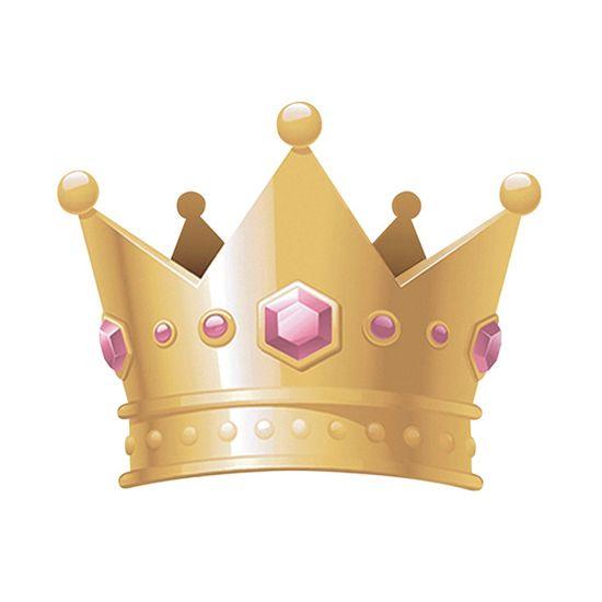 Aplique-Decoupage-Litoarte-APM8-894-em-Papel-e-MDF-8cm-Coroa-de-Princesa