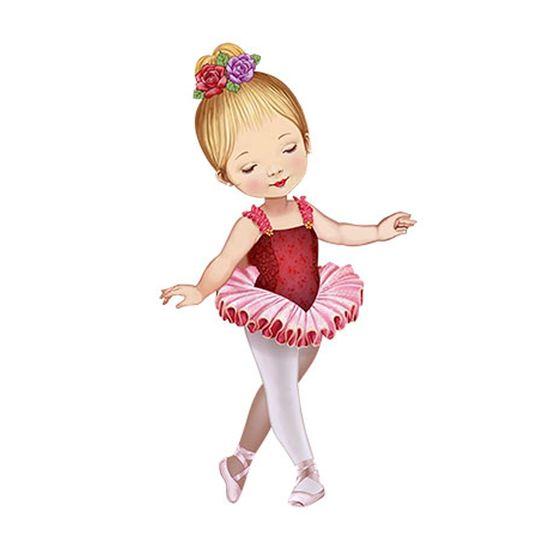 Aplique-Decoupage-Litoarte-APM12-103-em-Papel-e-MDF-12cm-Bailarina-Vestido-Vermelho