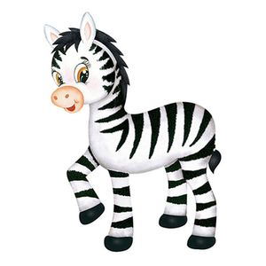 Aplique-Decoupage-Litoarte-APM12-145-em-Papel-e-MDF-12cm-Zebra