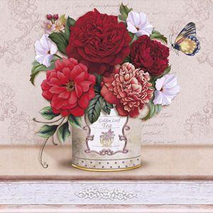 Papel-Decoupage-Arte-Francesa-Litoarte-AFQ-348-21x21cm-Flores-Diversas-Vermelhas-no-Vaso