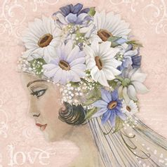 Papel-Decoupage-Adesiva-Litoarte-DA20-080-20x20cm-Dama-com-Flores-Brancas