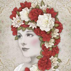-Papel-Decoupage-Adesiva-Litoarte-DA20-083-20x20cm-Dama-com-Flores-Vermelhas-e-Brancas