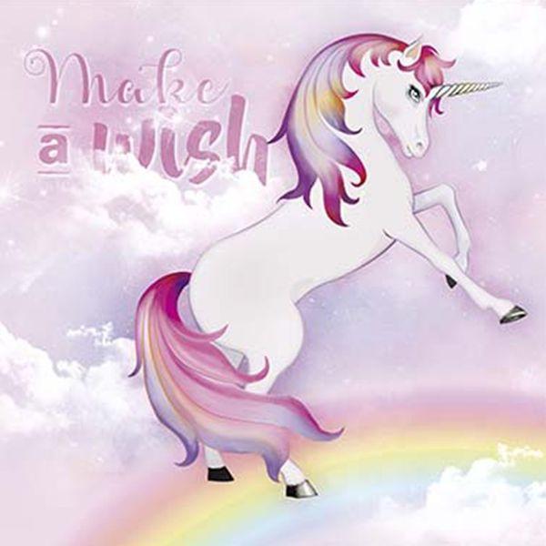 Papel-Decoupage-Adesiva-Litoarte-DA20-094-20x20cm-Unicornio-Make-a-Wish