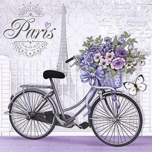 Papel-Decoupage-Adesiva-Litoarte-DA20-020-20x20cm-Bicicleta-com-Flores