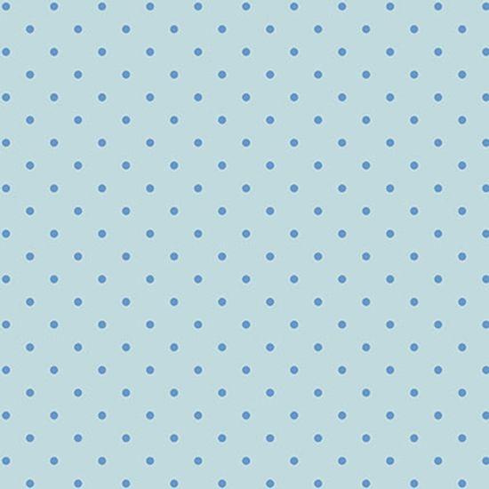 Papel-Scrapbook-Hot-Stamping-Litoarte-SH30-014-30x30cm-Poa-Azul-Fundo-Azul