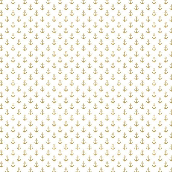 Papel-Scrapbook-Hot-Stamping-Litoarte-SH30-021-30x30cm-Ancoras-Dourado-Fundo-Branco