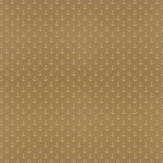 Papel-Scrapbook-Hot-Stamping-Litoarte-SH30-022-30x30cm-Ancoras-Dourado-Fundo-Marrom