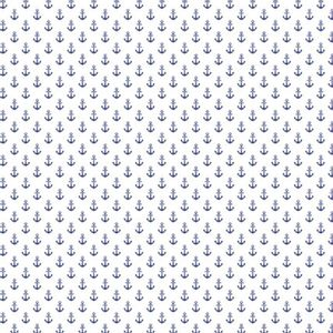 Papel-Scrapbook-Hot-Stamping-Litoarte-SH30-024-30x30cm-Ancoras-Azul-Fundo-Branco