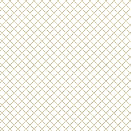 Papel-Scrapbook-Hot-Stamping-Litoarte-SH30-025-30x30cm-Xadrez-Dourado-Fundo-Branco