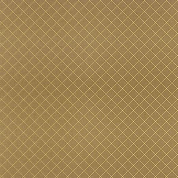Papel-Scrapbook-Hot-Stamping-Litoarte-SH30-026-30x30cm-Xadrez-Dourado-Fundo-Marrom