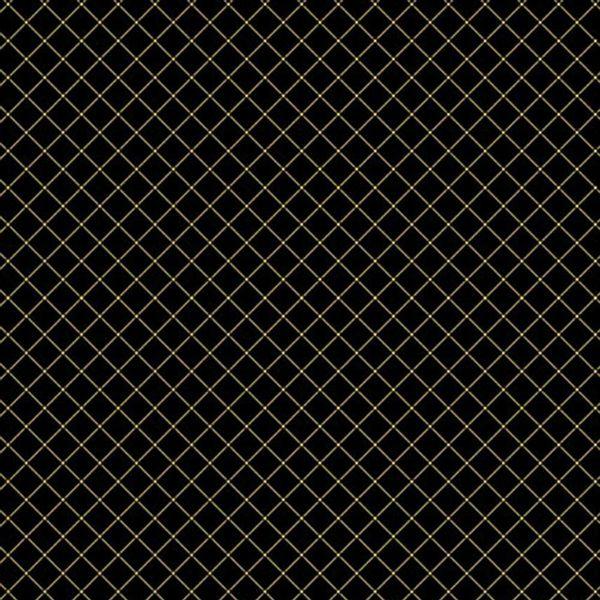 Papel-Scrapbook-Hot-Stamping-Litoarte-SH30-027-30x30cm-Xadrez-Dourado-Fundo-Preto