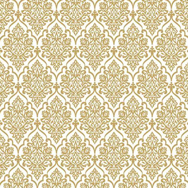 Papel-Scrapbook-Hot-Stamping-Litoarte-SH30-036-30x30cm-Floral-Dourado-Fundo-Branco