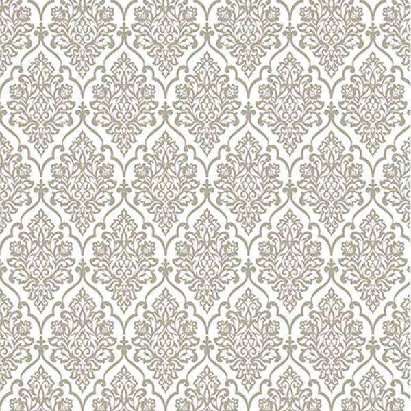 Papel-Scrapbook-Hot-Stamping-Litoarte-SH30-041-30x30cm-Floral-Prata-Fundo-Branco