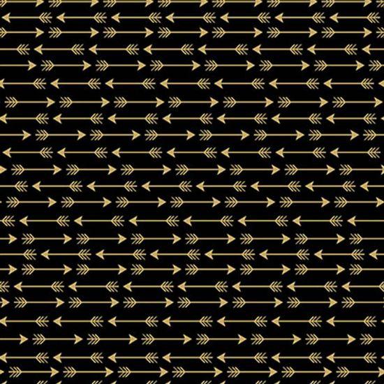 Papel-Scrapbook-Hot-Stamping-Litoarte-SH30-044-30x30cm-Flechas-Dourado-Fundo-Preto