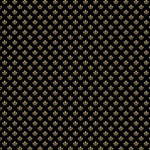 Papel-Scrapbook-Hot-Stamping-Litoarte-SH30-054-30x30cm-Flor-de-Lis-Dourado-Fundo-Preto