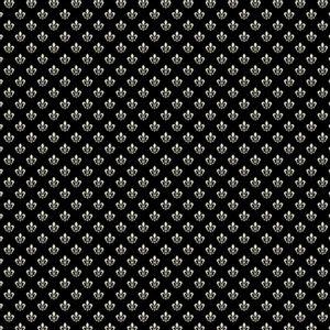 Papel-Scrapbook-Hot-Stamping-Litoarte-SH30-055-30x30cm-Flor-de-Lis-Prata-Fundo-Preto