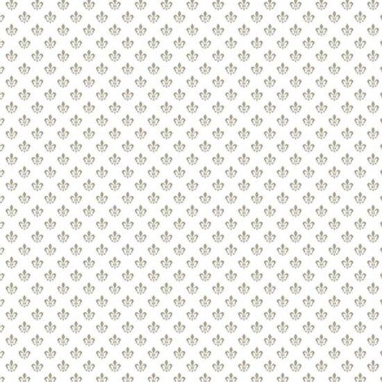 Papel-Scrapbook-Hot-Stamping-Litoarte-SH30-056-30x30cm-Flor-de-Lis-Prata-Fundo-Branco