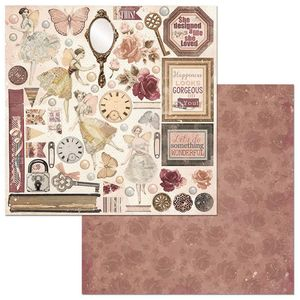 Papel-Scrapbook-WER125-305x305cm-Charmed-Perfeicao-Bo-Bunny