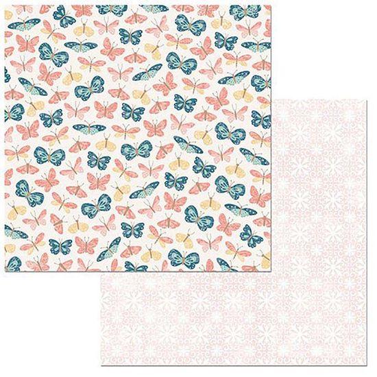 Papel-Scrapbook-WER097-305x305cm-Early-Bird-Borboletas-Bo-Bunny