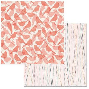 Papel-Scrapbook-WER101-305x305cm-Early-Bird-Passaros-Bo-Bunny
