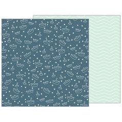 Papel-Scrapbook-WER145-305x305cm-Baby-Boy-Marinheiro-Bo-Bunny
