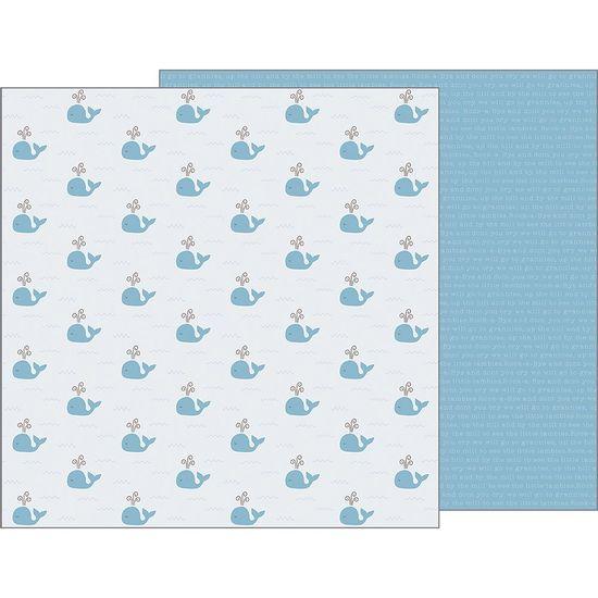 Papel-Scrapbook-WER150-305x305cm-Baby-Boy-Baleias-Bo-Bunny