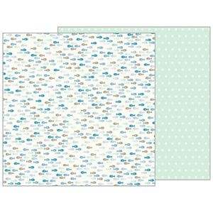 Papel-Scrapbook-WER147-305x305cm-Baby-Boy-Peixes-Bo-Bunny