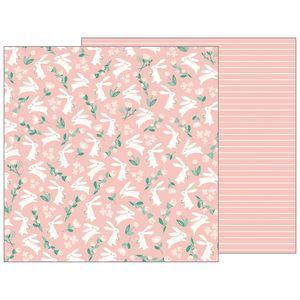 Papel-Scrapbook-WER144-305x305cm-Baby-Girl-Coelhos-Bo-Bunny