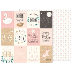 Papel-Scrapbook-WER142-305x305cm-Baby-Girl-Tags-Fofas-Bo-Bunny
