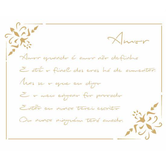 Stencil-Opa-20x25cm-Pintura-Simples-OPA2448-Poema-Amor