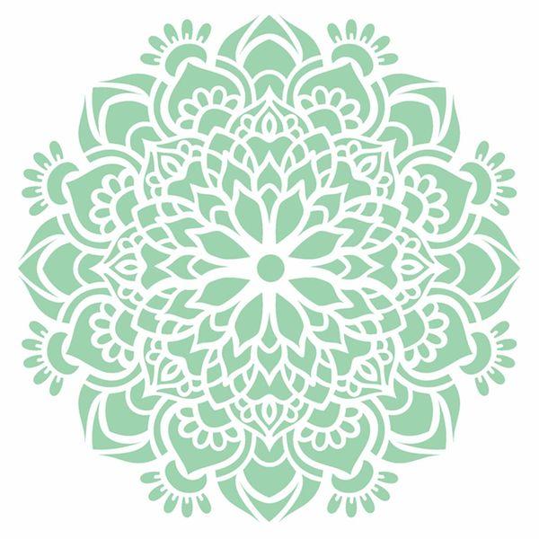 Stencil-Opa-20x25cm-Pintura-Simples-OPA2458-Mandala-Flor-Bauer