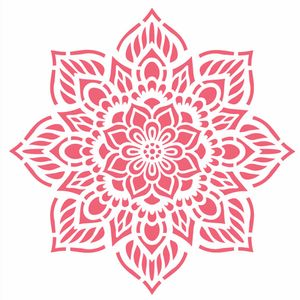 Stencil-Opa-20x25cm-Pintura-Simples-OPA2459-Mandala-Flor-Oito-Pontos