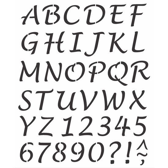 Stencil-Opa-20x25cm-Pintura-Simples-OPA2508-Alfabeto-Lucinda-Maiusculo