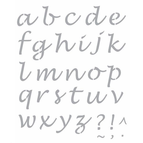 Stencil-Opa-20x25cm-Pintura-Simples-OPA2509-Alfabeto-Lucinda-Minusculo
