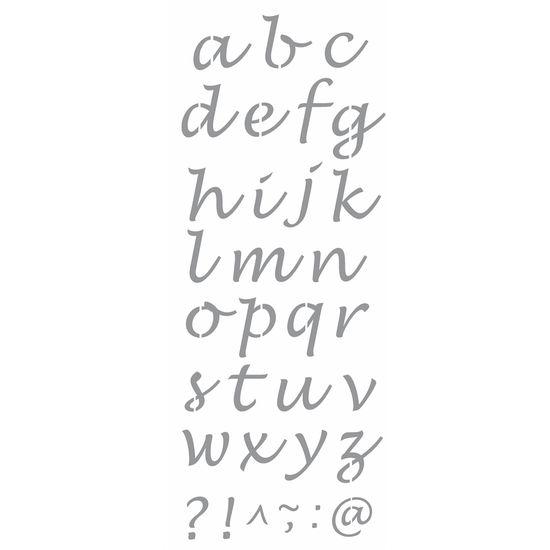 Stencil-Wall-OPA-17x42cm-Pintura-Simples-OPA2502-Alfabeto-Minusculo