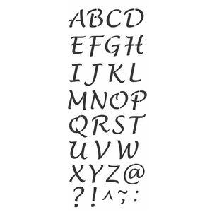 Stencil-Wall-OPA-17x42cm-Pintura-Simples-OPA2503-Alfabeto-Maiusculo