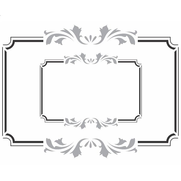 Stencil-OPA-15x20cm-Pintura-Simples-OPA2447-Moldura-Vintage