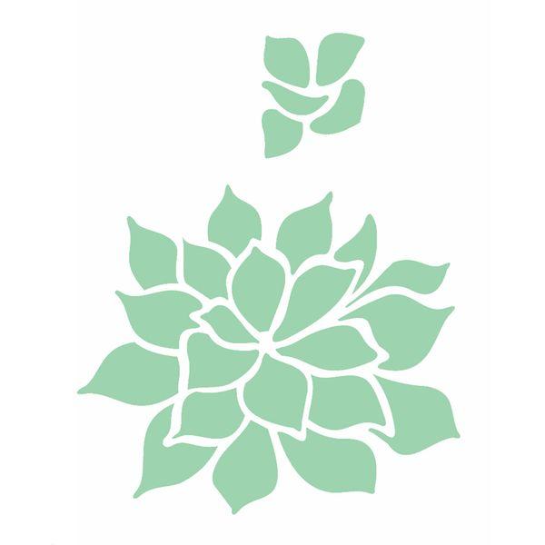 Stencil-OPA-15x20cm-Pintura-Simples-OPA2499-Plantas-Suculenta