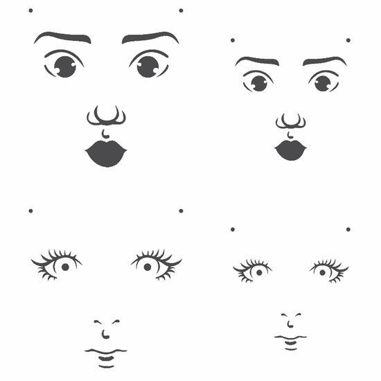 Stencil-OPA-15x20cm-Pintura-Simples-OPA2500-Rosto-Boneca-I