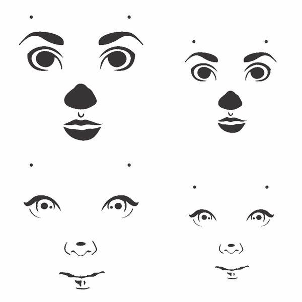 Stencil-OPA-15x20cm-Pintura-Simples-OPA2501-Rosto-Boneca-II