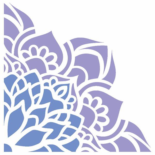 Stencil-OPA-14x14cm-Pintura-Simples-OPA2431-Cantoneira-Flor-de-Lotus