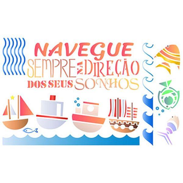 Stencil-Litoarte-344x21cm-Pintura-Simples-ST-367-Maritimo-Barcos-e-Peixes