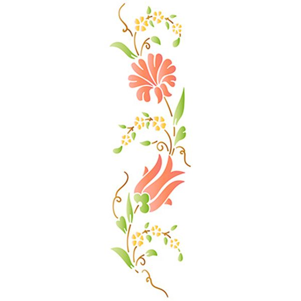 Stencil-Epoca-Litoarte-285x84cm-Pintura-Simples-STE-343-Arabescos-e-Tulipa