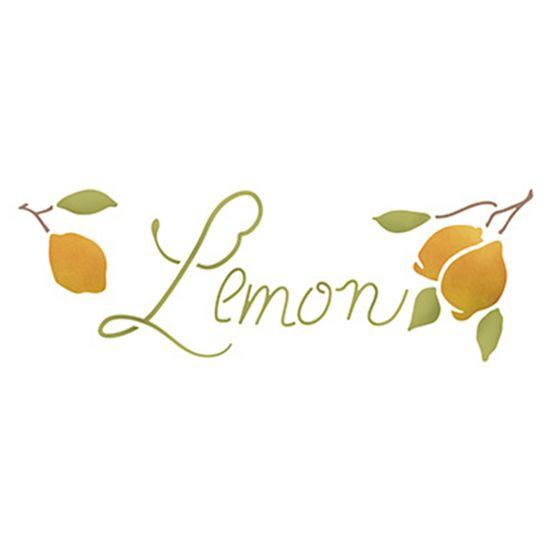 Stencil-Epoca-Litoarte-285x84cm-Pintura-Simples-STE-345-Limoes
