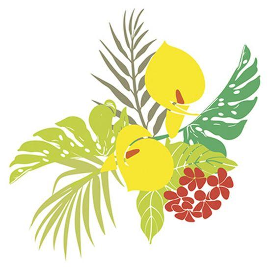 Stencil-Litoarte-25x20cm-Pintura-Sobreposicao-STR-046-Flores-Tropicais