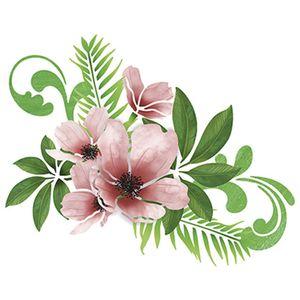 Stencil-Litoarte-25x20cm-Pintura-Simples-STR-052-Magnolias-Flores-e-Folhas