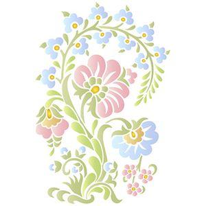 Stencil-Litoarte-25x20cm-Pintura-Simples-STR-072-Arabesco-Floral-Bauer